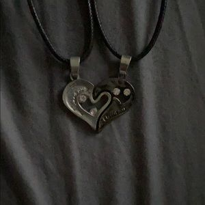 Jewelry - half heart necklaces